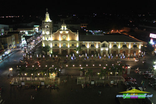 The Saint Joseph Cathedral as viewed from the roof top bar of the Plaza Hotel