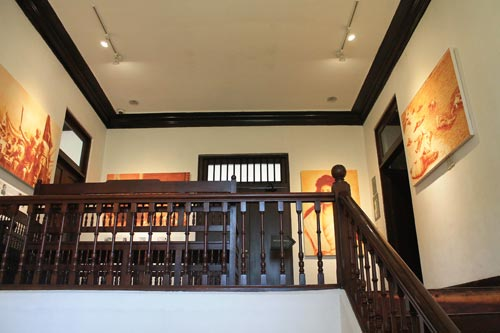 Stairway to the 2nd level of Rizal Shrine