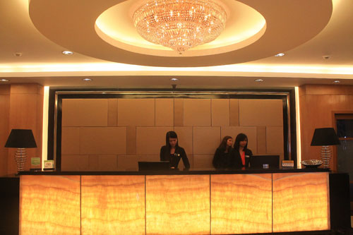 The Plaza Hotel Reception and chandelier