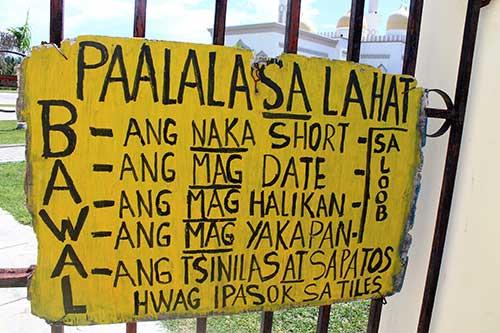 Cotabato Grand Mosque reminders