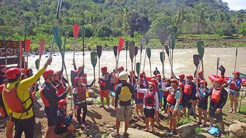Preparation: Kagay rafting safety orientation
