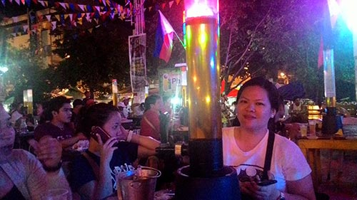 Having some shot at Iligan's Beer Plaza