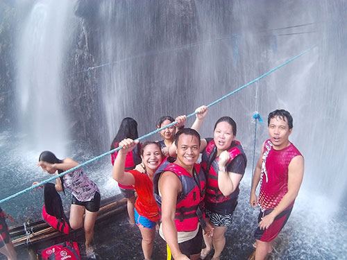 Almost the last Happy Groupie at Tinago Falls