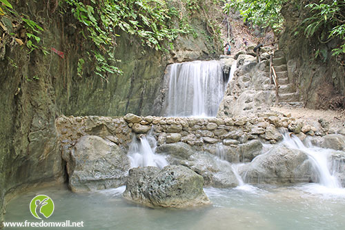A small falls greets you before seeing the hidden falls of Binalayan