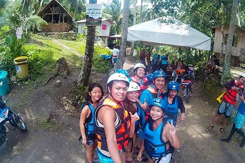 Cebu canyoneering orientation with Ronald Diluvio, Cyrus Acogido Bacaran, Ian Limpangog, Juellen Jey Macapangal, Johans Claudine Ufano, Jo Anne Marpuri, Lloyd Cristobal, Karen Salting, Teddy Buagas, and Natalie Niu