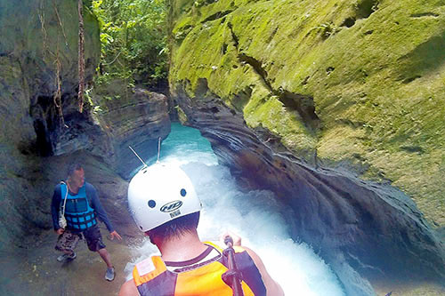 Cebu canyoneering slide