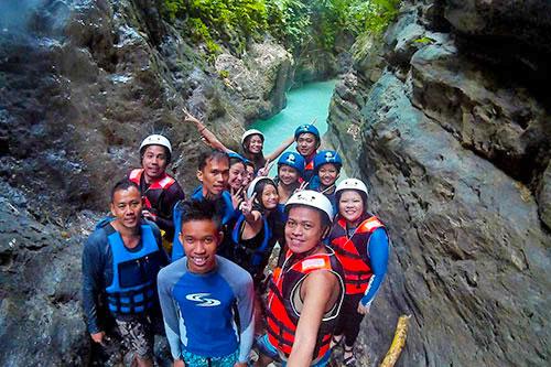 Cebu canyoneering with Ronald Diluvio, Cyrus Acogido Bacaran, Ian Limpangog, Juellen Jey Macapangal, Johans Claudine Ufano, Jo Anne Marpuri, Lloyd Cristobal, Karen Salting, Teddy Buagas, and Natalie Niu