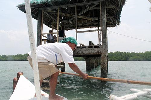 Bantay-dagat station in Talabong Mangrove Santuary
