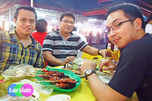Albert Mico Pajarillo at Larsian BBQ