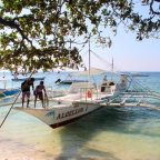 Boat for Island Hopping in Alona Beach, Panglao
