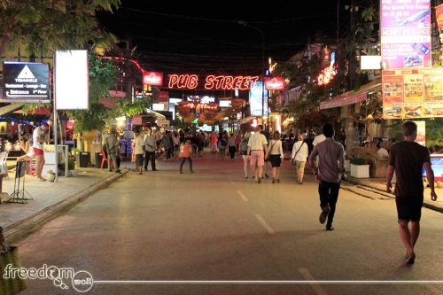 Siem Reap is a vibrant city at night and the Pub Street is the testament to that