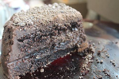 The Chocolate Chamber's signature chocolate cake: Crunchy, nutty, bittersweet, heaven!