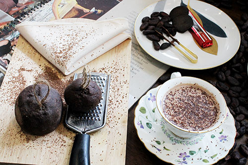 Masterfully-prepared chocolate drink