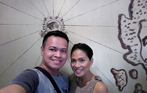 A selfie with the Philippines' chocolate queen, Ms Raquel Choa