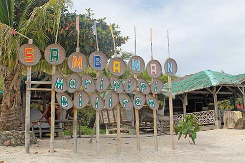 Sambawan dive camp and beach resort marker