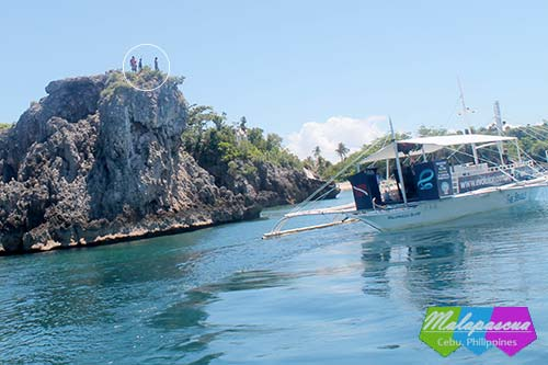 cliff diving site in Malapascua