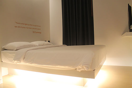 My comfy and flashy bed at A-One Star Hotel