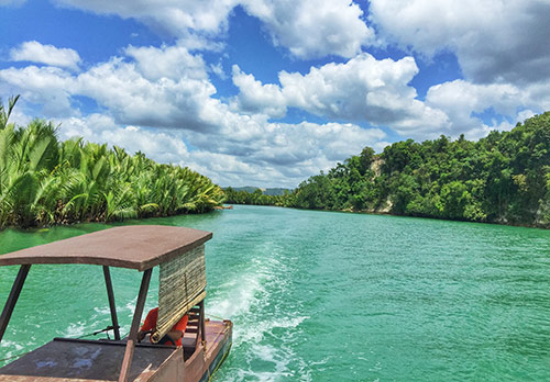 Sightseeing along Bohol River