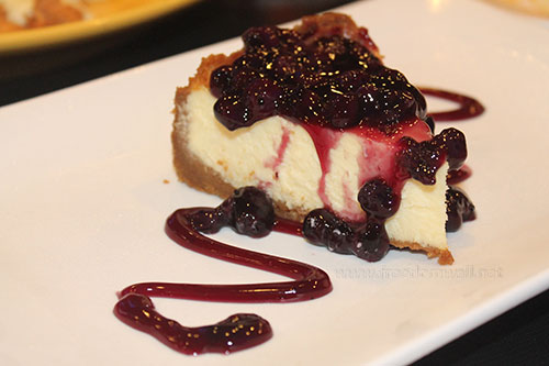 Murray's New Orleans Blueberry cheesecake