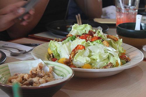 Sumo Sam's Squid Head Karaage and Pride Salad