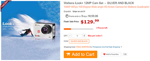 Walkera iLook+ 12MP Cam Set