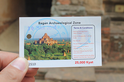 Bagan Archeological Zone pass