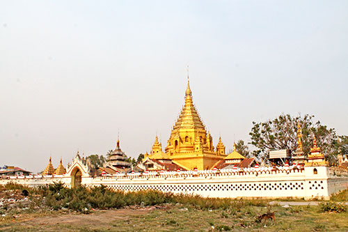 A Golden Pagoda in Nyaung Shwe township