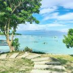 A gorgeous beach fronting Ogtong Cave Resort