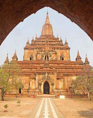Sulamani is Bagan's tallest pagoda according to my guide, Tuton