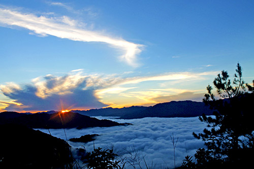 The sunrise is always stunning at the peak of Mount Kiltepan in Sagada