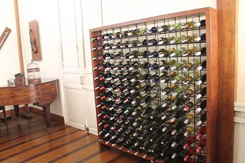Casa Uno's wine cellar