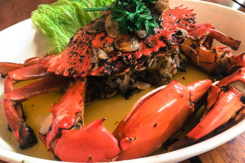 Oyster Bay's signature crab