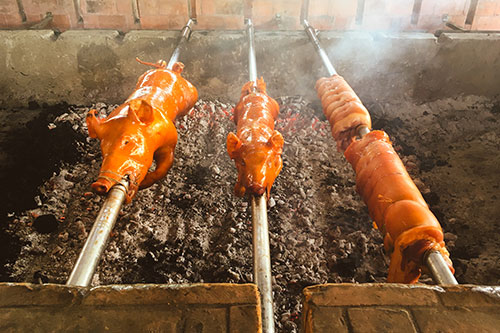 Fresh roasts from Mactan Alfresco's Lechon Pit