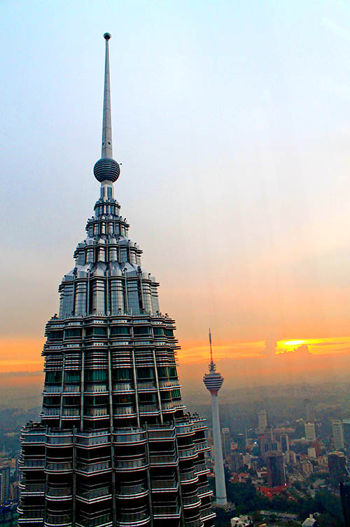 Another awesome sunset. A view from the viewdeck of Petronas Twin Towers.