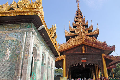 Fascinating structures of Shwedagon