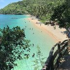 The gorgeous ivory beach of Hermit's Cove