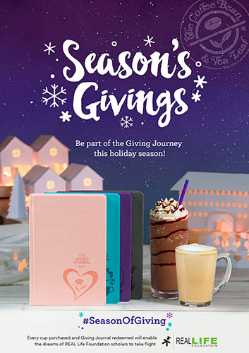 The 2017 Giving Journals by The Coffee Bean & Tea Leaf