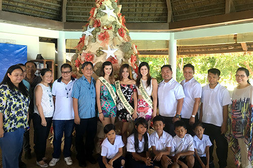 """Bluewater executives with Miss Earth Philippines 2016 reigning beauties and the beneficial of the """"Walk Among the Stars"""" project"""