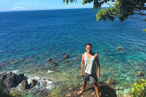 Ian Limpangog in Apo Island