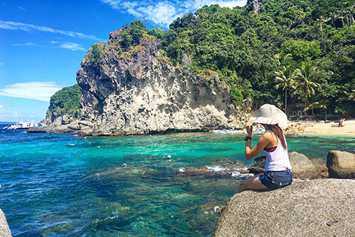 Juellen Jey Macapangal in Apo Island