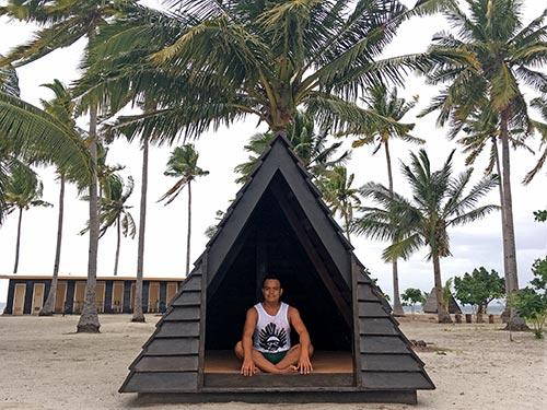 Scandinavian-inspired, triangular villa in Kalanggaman Island