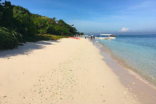The pink beach of the Great Santa Cruz Island, Zamboanga City