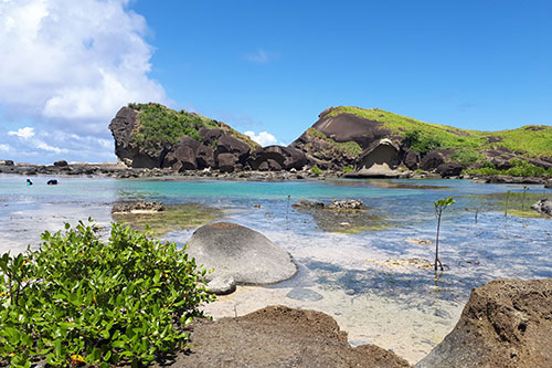 Caranas Rock Formations with Bel-at Tidal Pool in the foreground