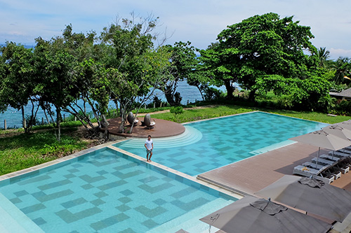 One of Amorita Resort's spacious pool