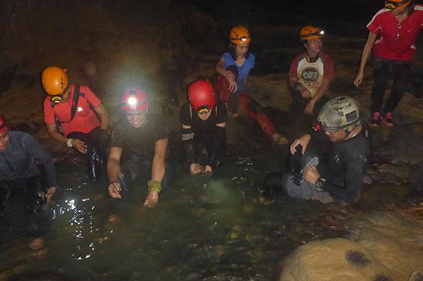 Resting socials inside langun cave
