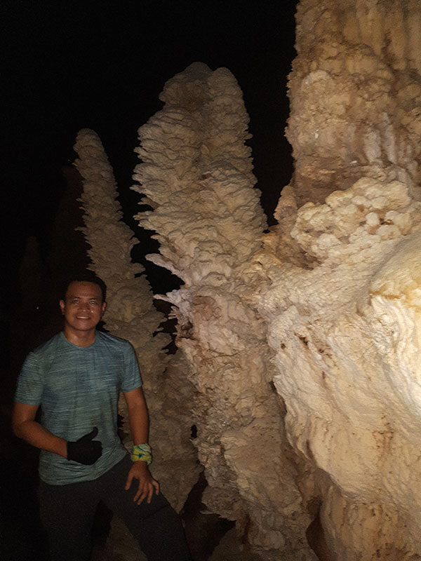 Towers cones of Upper Langun Cave
