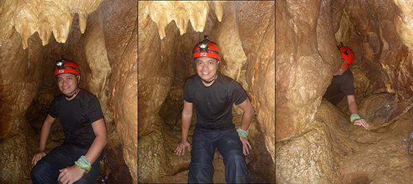 Langun Cave snake chamber crawl