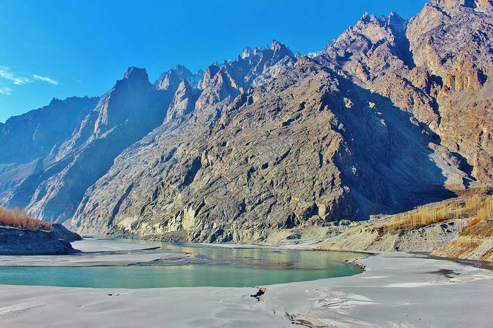 Hunza Valley in the Gilgit-Baltistan region of Pakistan
