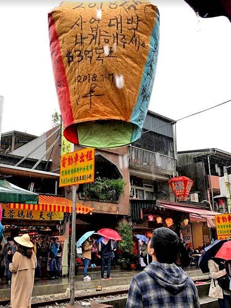 Flying Lanterns in Shifen