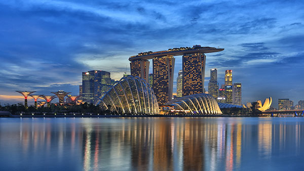 Marina Bay Sands and Gardens By The Bay Singapore